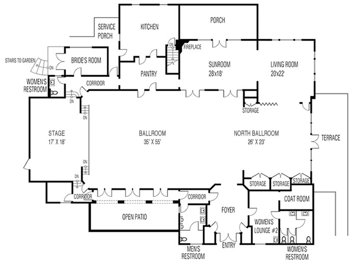 Glamorous club house plan contemporary exterior ideas 3d for Clubhouse floor plans